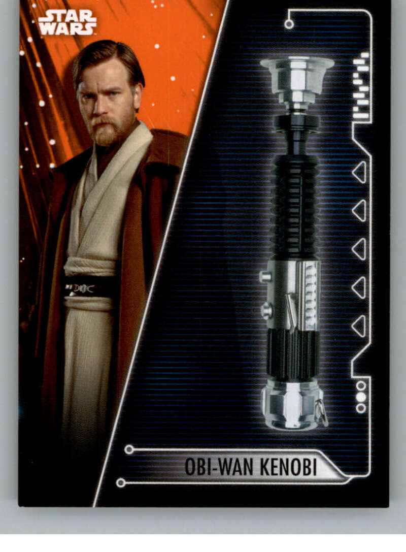 2020 Topps Star Wars Holocron Series Lightsabers of the Jedi Orange