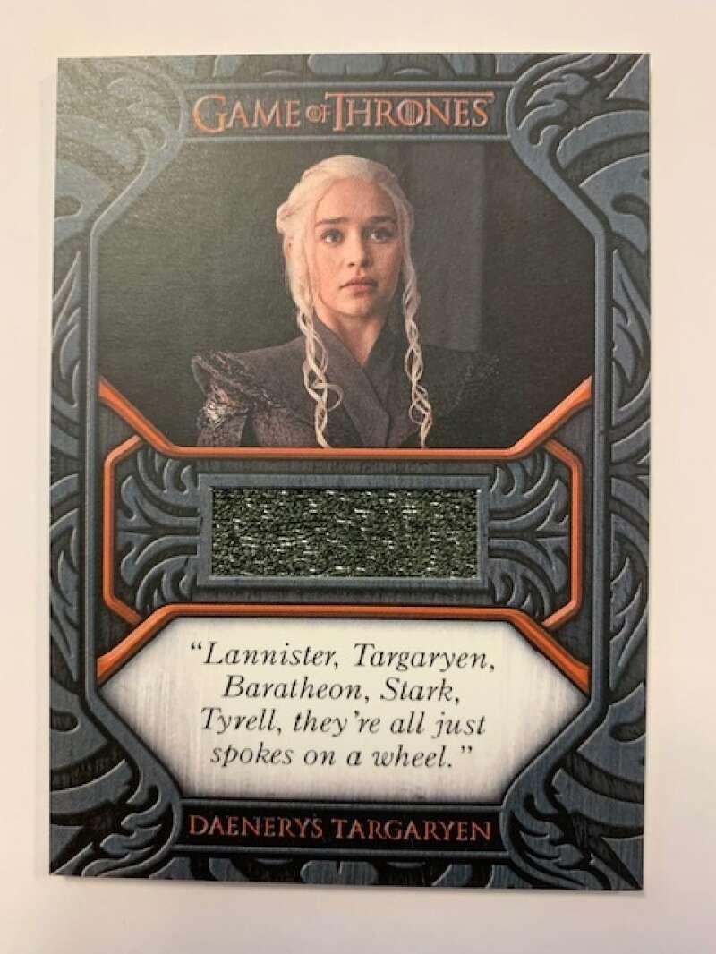 2021 Rittenhouse Game of Thrones Iron Anniversary Series 1 Daenerys Targaryen Relic Quotes