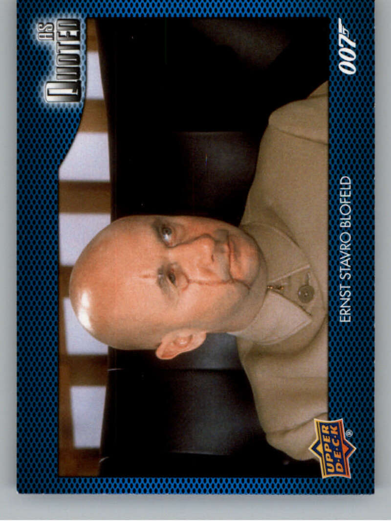 2021 Upper Deck James Bond Villains and Henchmen As Quoted