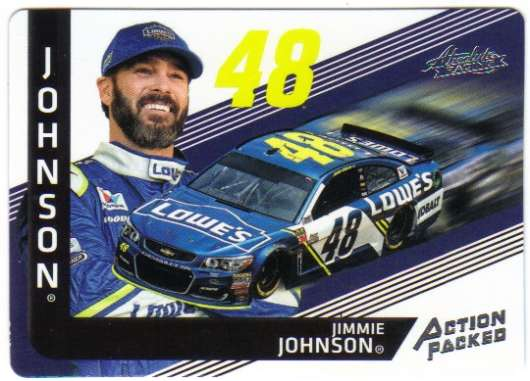 2017 Panini Absolute Action Packed Racing #1 Jimmie Johnson Lowe's/Hendrick Motorsports/Chevrolet  Official NASCAR Trading Card