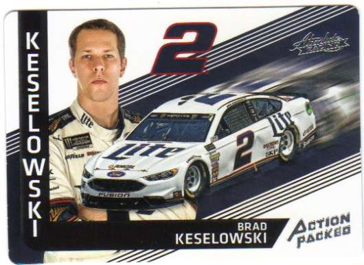 2017 Panini Absolute Action Packed Racing #5 Brad Keselowski Miller Lite/Team Penske/Ford  Official NASCAR Trading Card