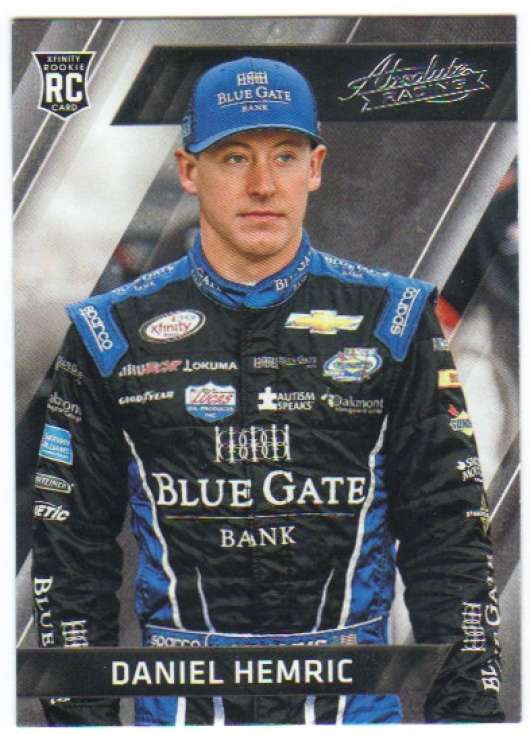 2017 Panini Absolute Racing #33 Daniel Hemric Blue Gate Bank/Richard Childress Racing/Chevrolet  Official NASCAR Trading Card