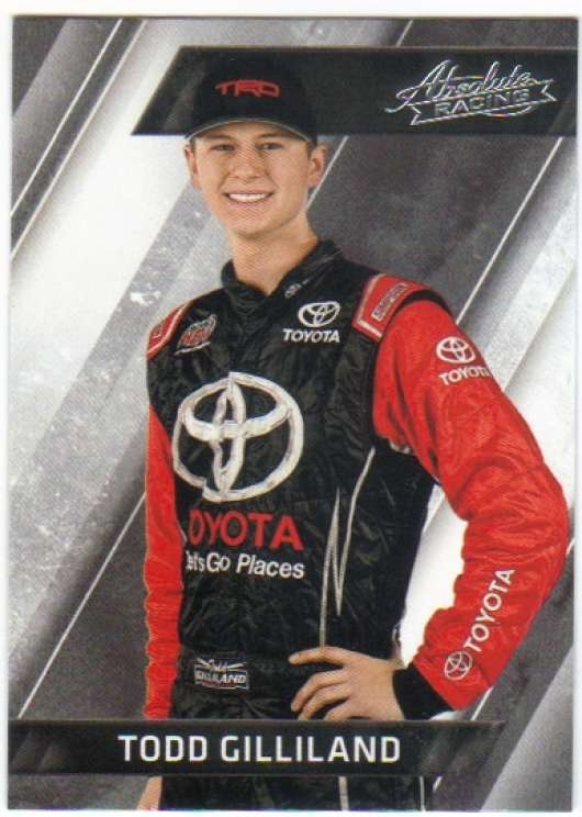 2017 Panini Absolute Racing #69 Todd Gilliland Toyota/Kyle Busch Motorsports/Toyota  Official NASCAR Trading Card