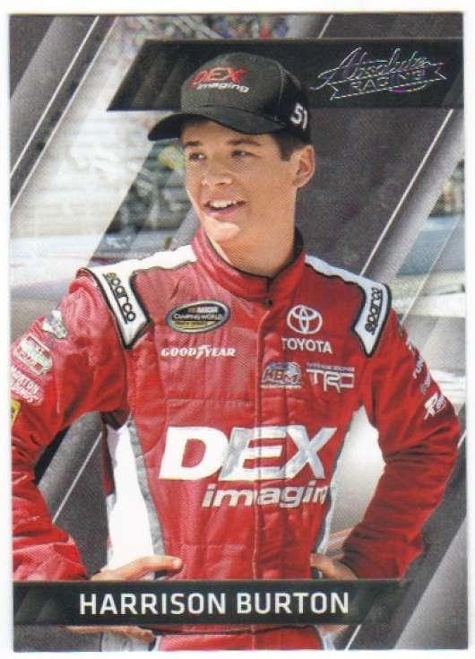 2017 Panini Absolute Racing #85 Harrison Burton DEX Imaging-Konica Minolta/Kyle Busch Motorsports/Toyota  Official NASCAR Trading Card