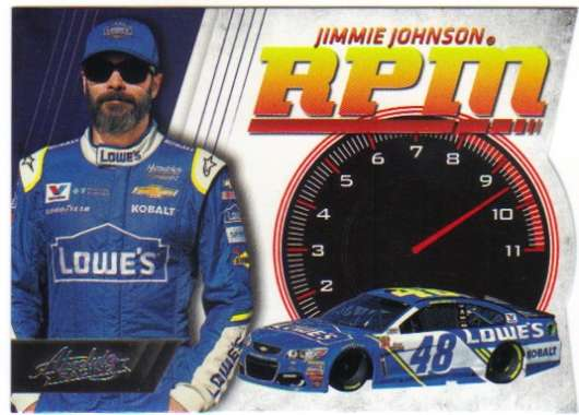 2017 Panini Absolute RPM Racing #4 Jimmie Johnson Lowe's/Hendrick Motorsports/Chevrolet  Official NASCAR Trading Card