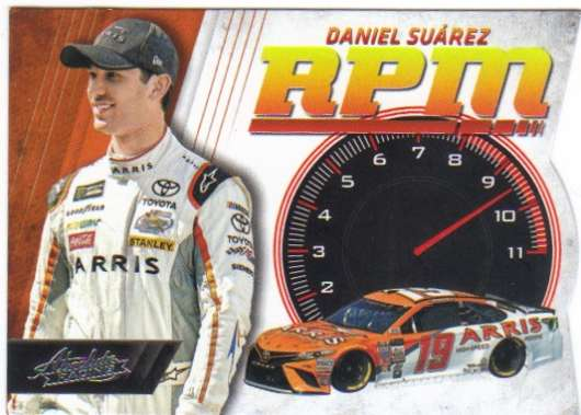 2017 Panini Absolute RPM Racing #6 Daniel Suarez ARRIS/Joe Gibbs Racing/Toyota  Official NASCAR Trading Card