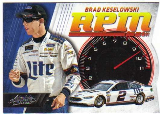 2017 Panini Absolute RPM Racing #7 Brad Keselowski Miller Lite/Team Penske/Ford  Official NASCAR Trading Card