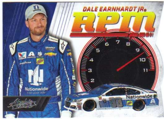 2017 Panini Absolute RPM Racing #8 Dale Earnhardt Jr Nationwide/Hendrick Motorsports/Chevrolet  Official NASCAR Trading Card