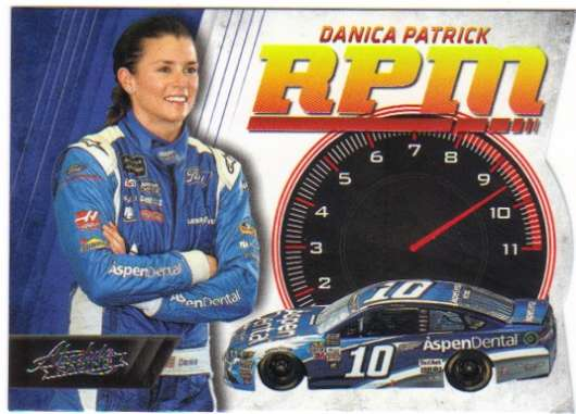 2017 Panini Absolute RPM Racing #10 Danica Patrick Aspen Dental/Stewart-Haas Racing/Ford  Official NASCAR Trading Card
