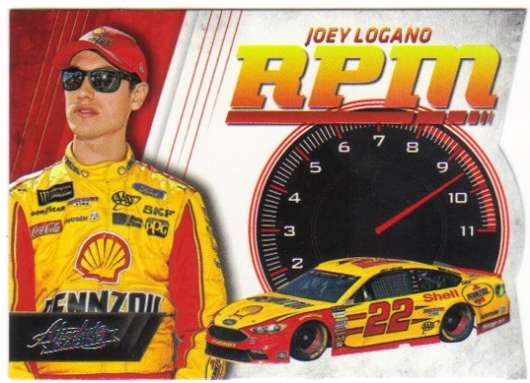 2017 Panini Absolute RPM Racing #14 Joey Logano Shell-Pennzoil/Team Penske/Ford  Official NASCAR Trading Card