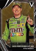 2018 Panini Victory Lane Racing #96 Kyle Busch M&M's/Joe Gibbs Racing/Toyota Past Winner  Official NASCAR Trading Card