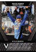 2018 Panini Victory Lane Racing #43 Kyle Busch Caramel M&M's/Joe Gibbs Racing/Toyota Playoff Race Winner  Official NASCAR Trading Card
