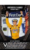 2018 Panini Victory Lane Racing #47 Kyle Busch Caramel M&M's/Joe Gibbs Racing/Toyota Playoff Race Winner  Official NASCAR Trading Card
