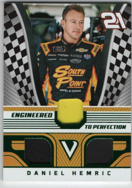 2018 Panini Victory Lane Engineered to Perfection Triple Materials Green