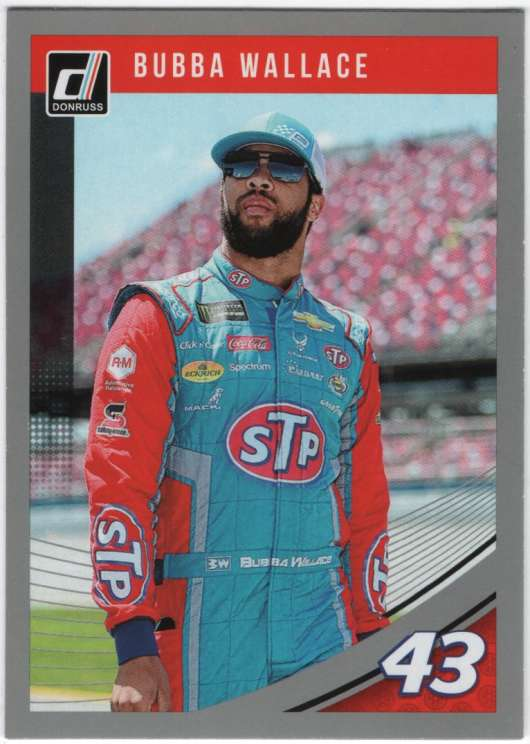 2019 Donruss Racing Silver Parallel #38 Bubba Wallace STP/Richard Petty Motorsports/Chevrolet  Official NASCAR Trading Card