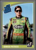 2019 Donruss Racing Silver Parallel #18 Danica Patrick GoDaddy.com/Premium Motorsports/Chevrolet Retro Rated Rookies  Official NASCAR Trading Card