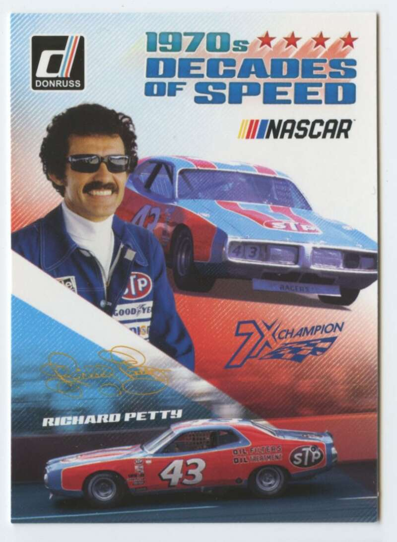 2019 Donruss Racing Decades of Speed #5 Richard Petty STP/Petty Enterprises/Plymouth  Official NASCAR Trading Card