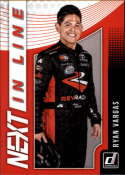 2019 Donruss Racing NEXT in Line #9 Ryan Vargas NASCAR NEXT  Official NASCAR Trading Card