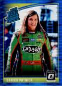 2019 Donruss Racing Optic Blue Pulsar #7 Danica Patrick GoDaddy.com/Premium Motorsports/Chevrolet Retro Rated Rookie  Official NASCAR Retail Exclusive