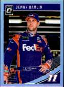 2019 Donruss Racing Optic Holo Parallel #12 Denny Hamlin FedEx Express/Joe Gibbs Racing/Toyota  Official NASCAR Trading Card by Panini