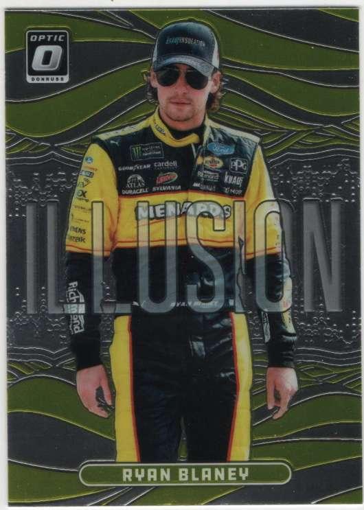 2019 Donruss Racing Optic Illusion #6 Ryan Blaney Menards/Team Penske/Ford  Official NASCAR Trading Card