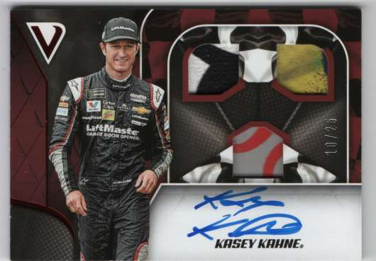 2019 Panini Victory Lane Triple Swatch Signatures Gold