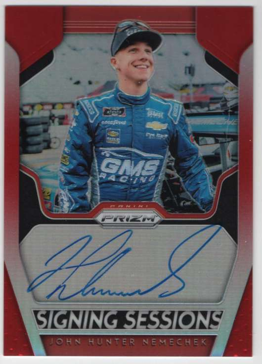 2019 Panini Prizm Signing Sessions Prizm Autographs Red