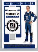 2020 Donruss Racing Contenders #11 Alex Bowman Nationwide/Hendrick Motorsports/Chevrolet  Official NASCAR Trading Card