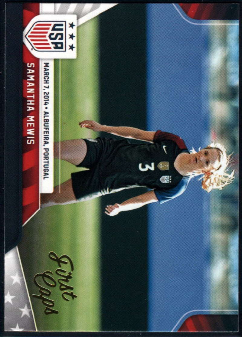 2016 Panini USA Soccer First Caps Soccer #2 Samantha Mewis Official Team USA Trading Card