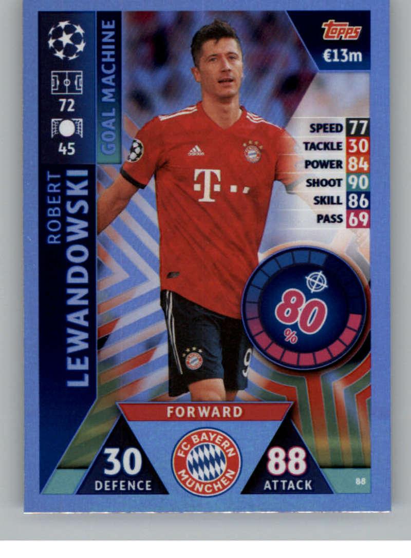 2018-19 Topps UEFA Champions League Match Attax #88 Robert Lewandowski NM-MT+ FC Bayern Munchen
