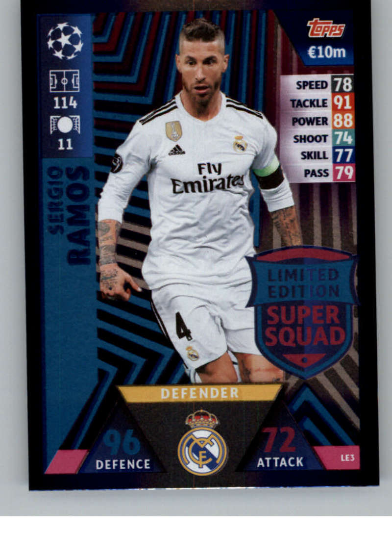 a3d0bf4b5 2018-19 Topps UEFA Champions League Match Attax Limited Edition Super Squad   LE3 Sergio Ramos