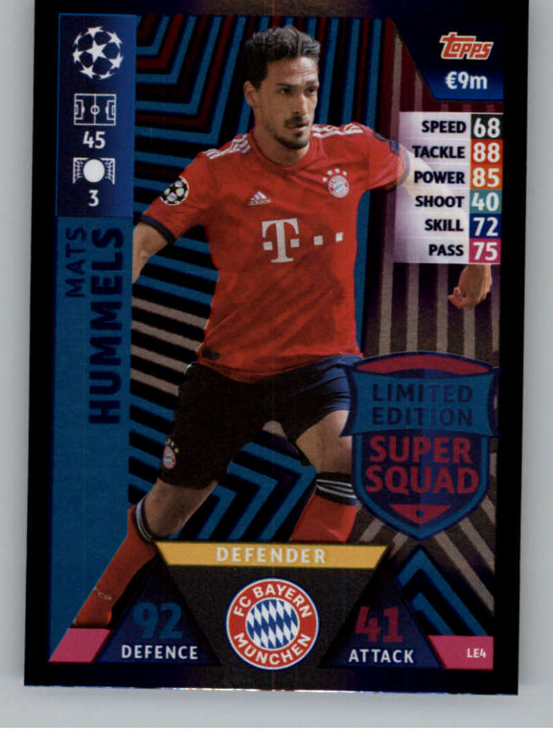 b3264d699 2018-19 Topps UEFA Champions League Match Attax Limited Edition Super Squad   LE4 Mats Hummels