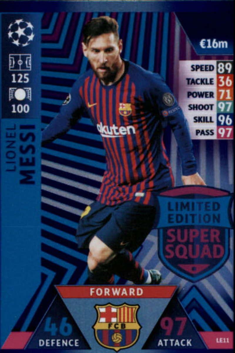 c2f254f25 2018-19 Topps UEFA Champions League Match Attax Limited Edition Super Squad   LE11 Lionel Messi