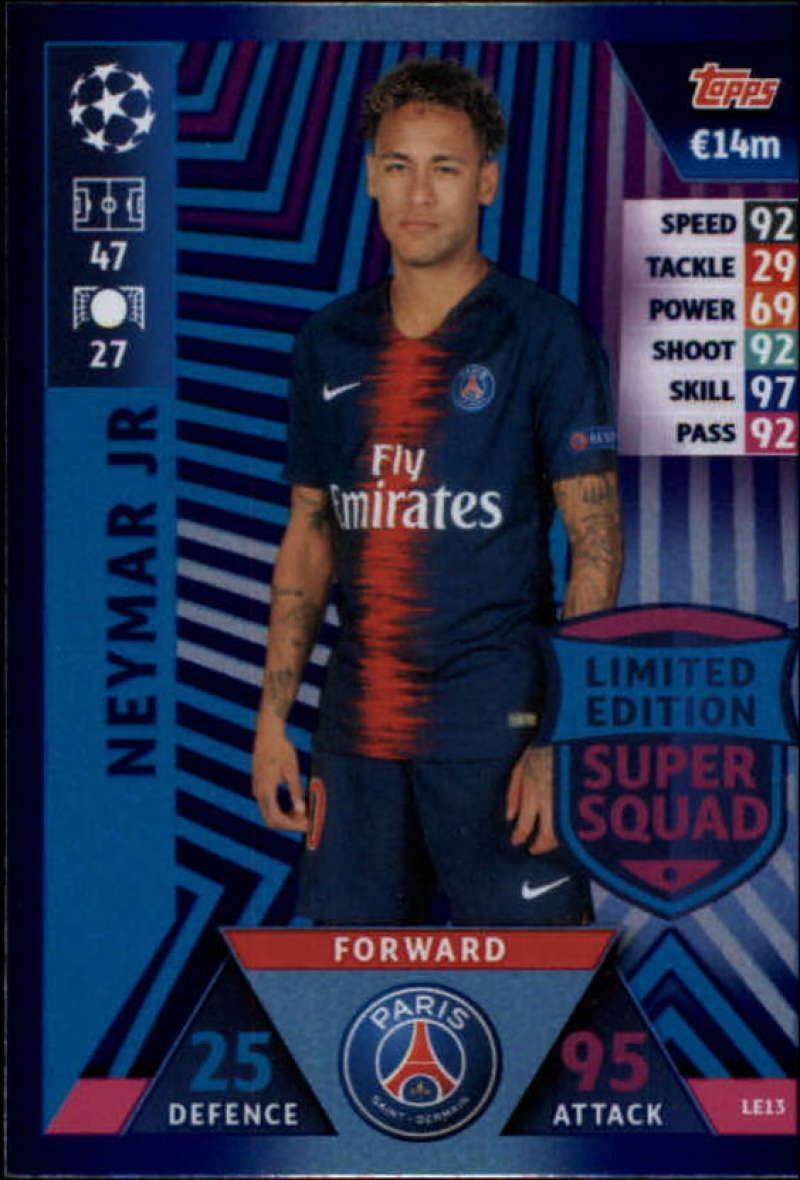 8a6bc53a9 2018-19 Topps UEFA Champions League Match Attax Limited Edition Super Squad   LE13 Neymar Jr