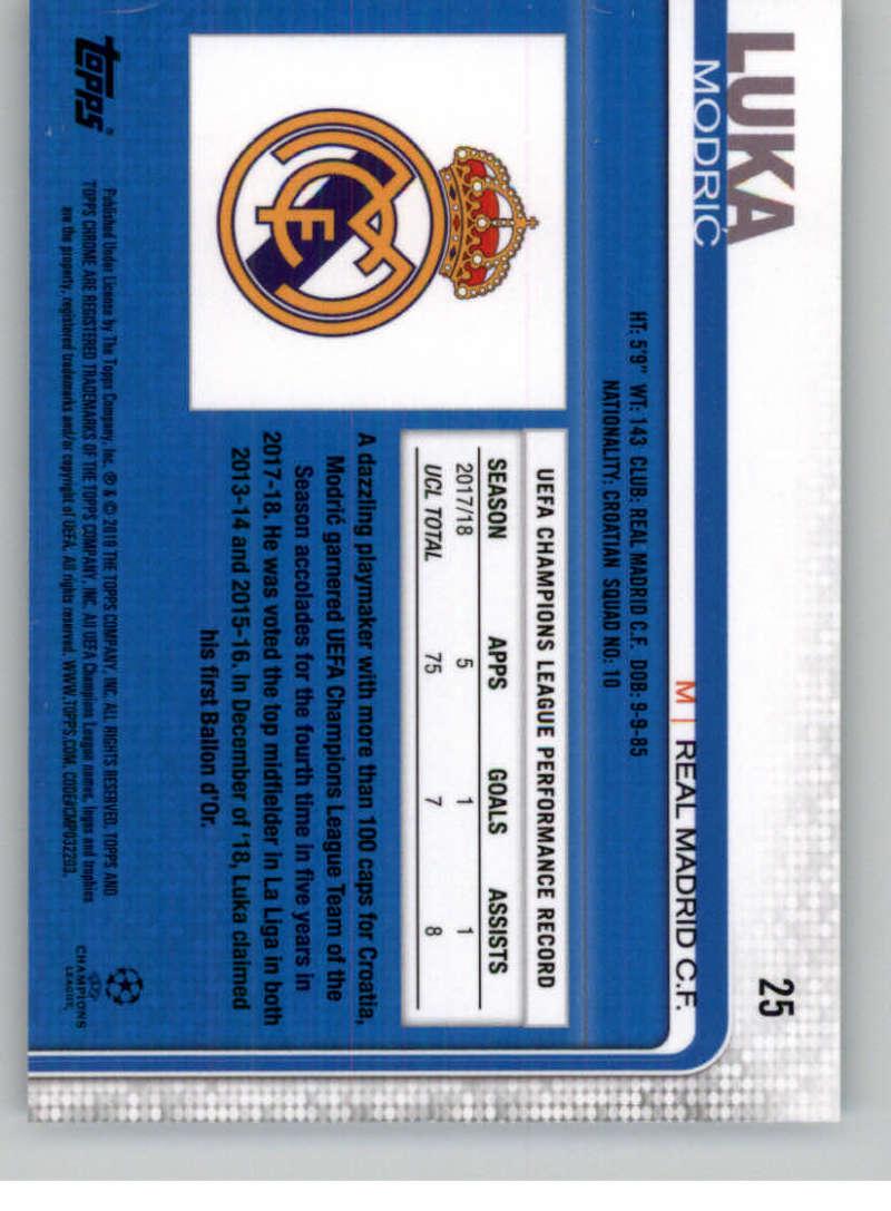 2018-19-Topps-Chrome-UEFA-Champions-Soccer-Base-Set-Cards-Choose-039-s-1-100 thumbnail 41