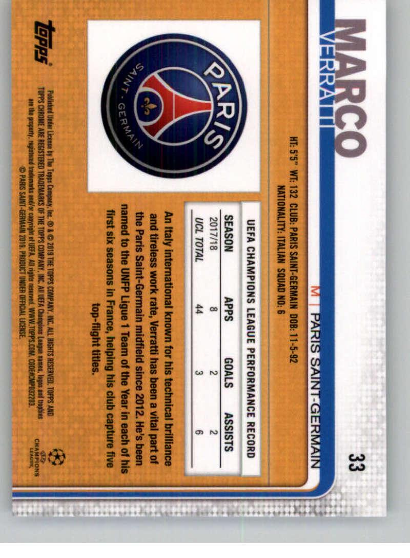 2018-19-Topps-Chrome-UEFA-Champions-Soccer-Base-Set-Cards-Choose-039-s-1-100 thumbnail 55