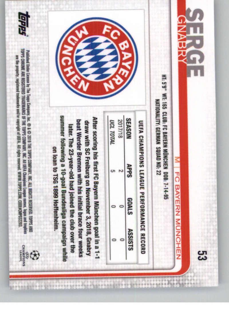 2018-19-Topps-Chrome-UEFA-Champions-Soccer-Base-Set-Cards-Choose-039-s-1-100 thumbnail 95