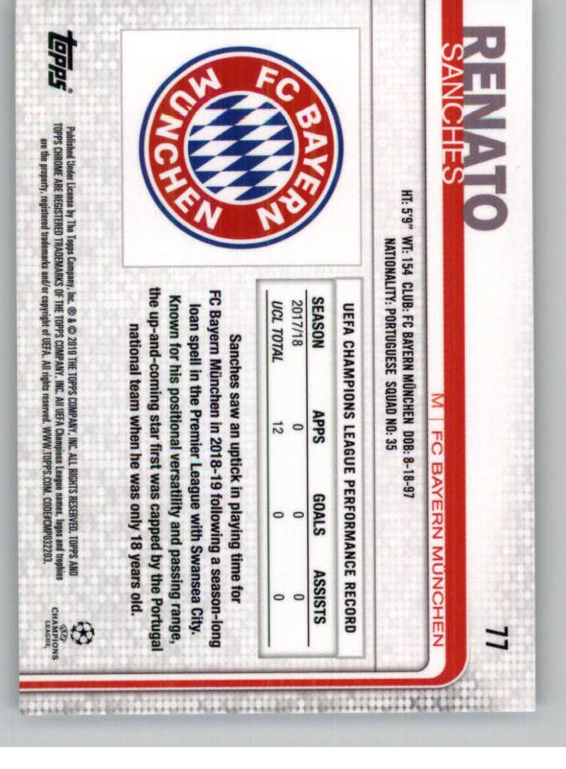 2018-19-Topps-Chrome-UEFA-Champions-Soccer-Base-Set-Cards-Choose-039-s-1-100 thumbnail 139