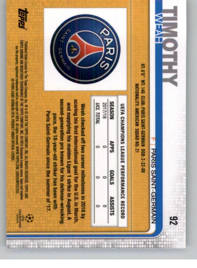 2018-19-Topps-Chrome-UEFA-Champions-Soccer-Base-Set-Cards-Choose-039-s-1-100 thumbnail 165