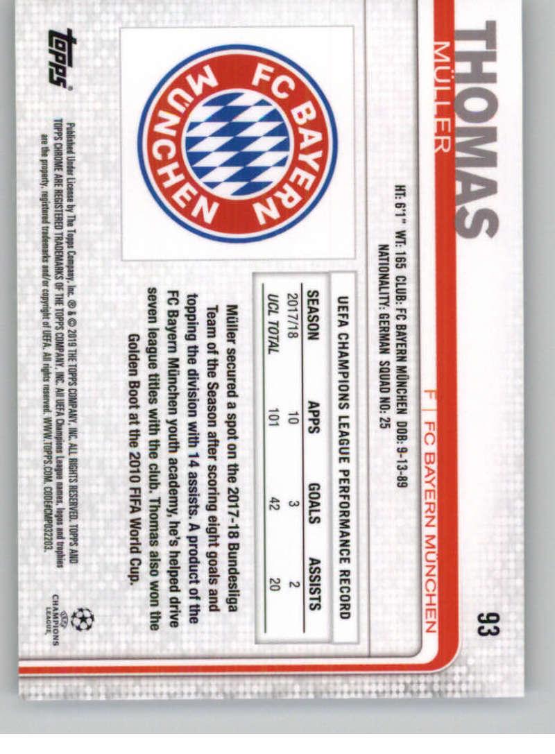 2018-19-Topps-Chrome-UEFA-Champions-Soccer-Base-Set-Cards-Choose-039-s-1-100 thumbnail 167