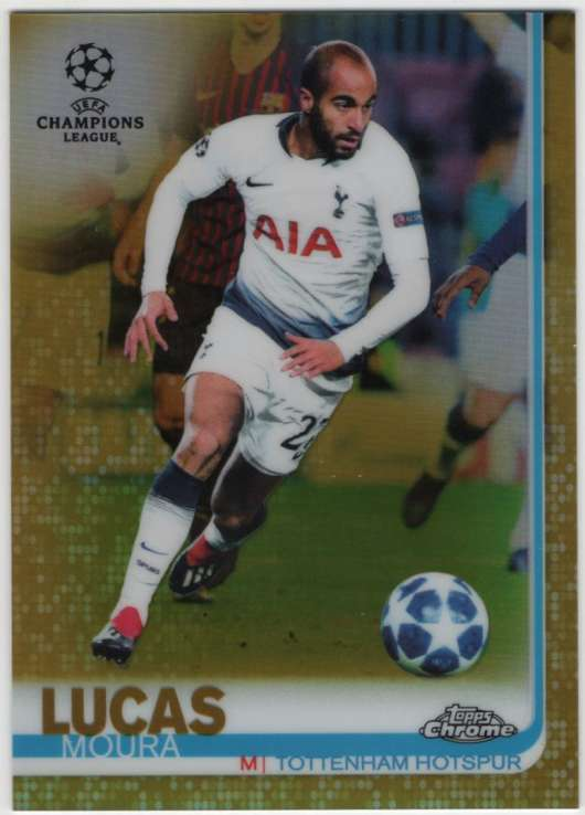 2018-19 Topps Chrome UEFA Champions League Refractors Gold