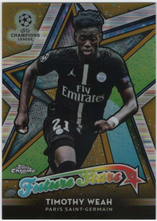 2018-19 Topps Chrome UEFA Champions League Future Stars Refractors Gold