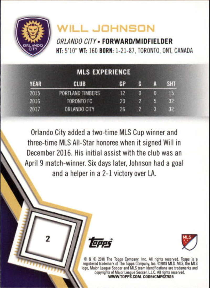 2018-Topps-MLS-Soccer-Base-Set-Cards-Choose-From-Card-039-s-1-200 thumbnail 5