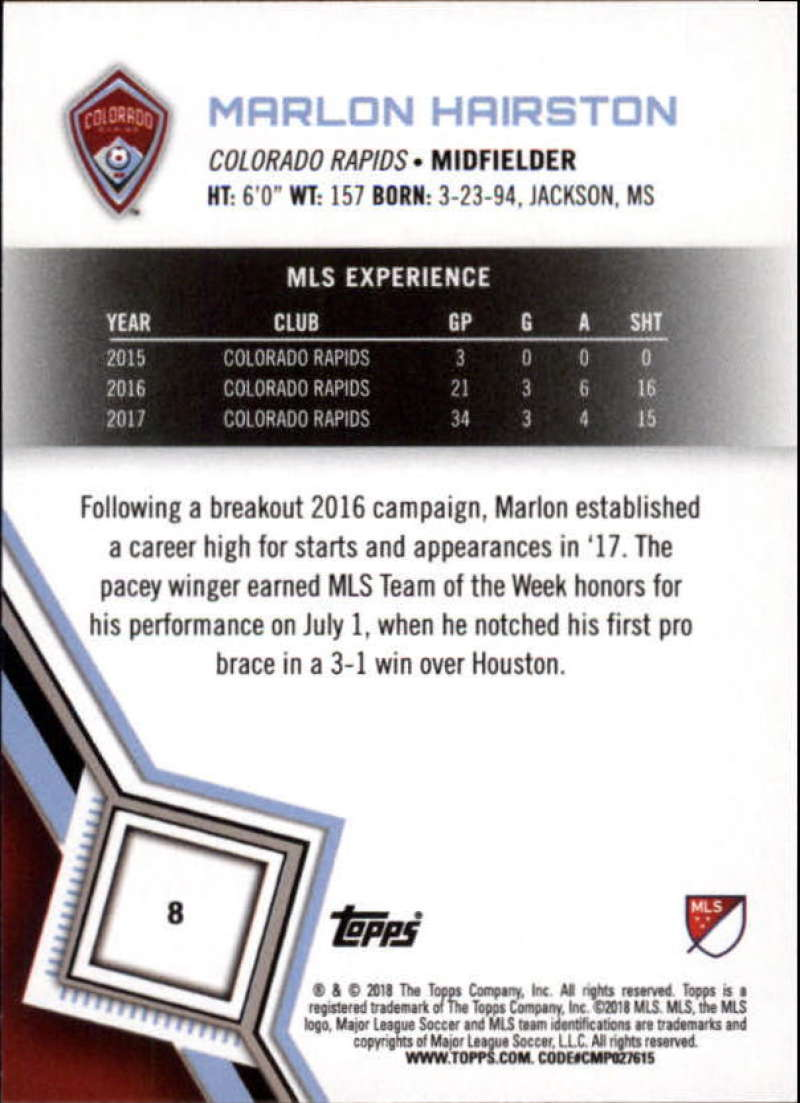 2018-Topps-MLS-Soccer-Base-Set-Cards-Choose-From-Card-039-s-1-200 thumbnail 17