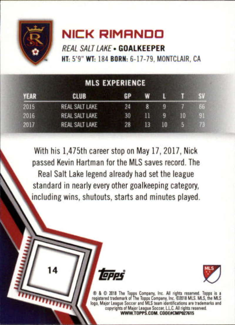 2018-Topps-MLS-Soccer-Base-Set-Cards-Choose-From-Card-039-s-1-200 thumbnail 29