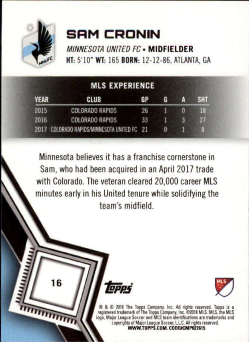 2018-Topps-MLS-Soccer-Base-Set-Cards-Choose-From-Card-039-s-1-200 thumbnail 33