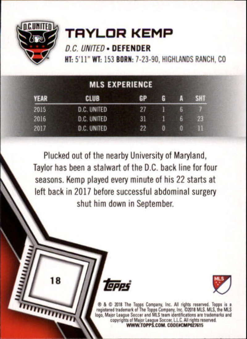 2018-Topps-MLS-Soccer-Base-Set-Cards-Choose-From-Card-039-s-1-200 thumbnail 37