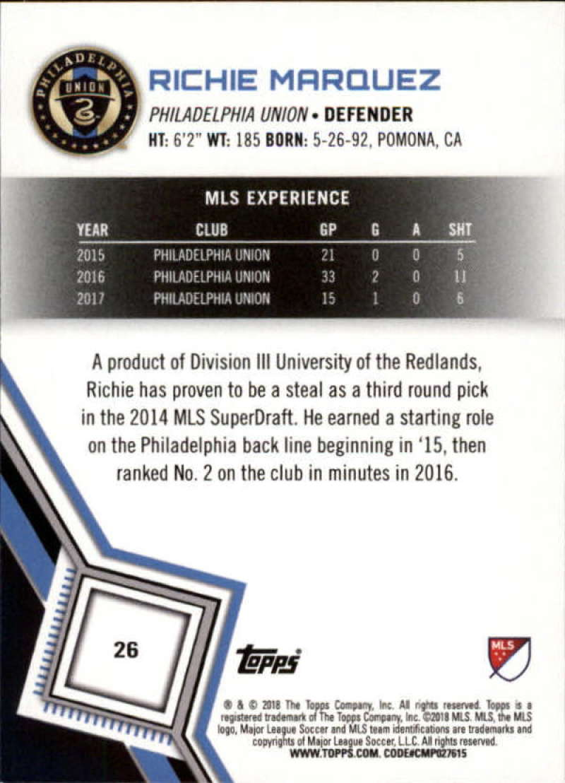 2018-Topps-MLS-Soccer-Base-Set-Cards-Choose-From-Card-039-s-1-200 thumbnail 53