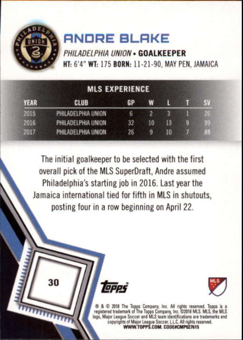 2018-Topps-MLS-Soccer-Base-Set-Cards-Choose-From-Card-039-s-1-200 thumbnail 61