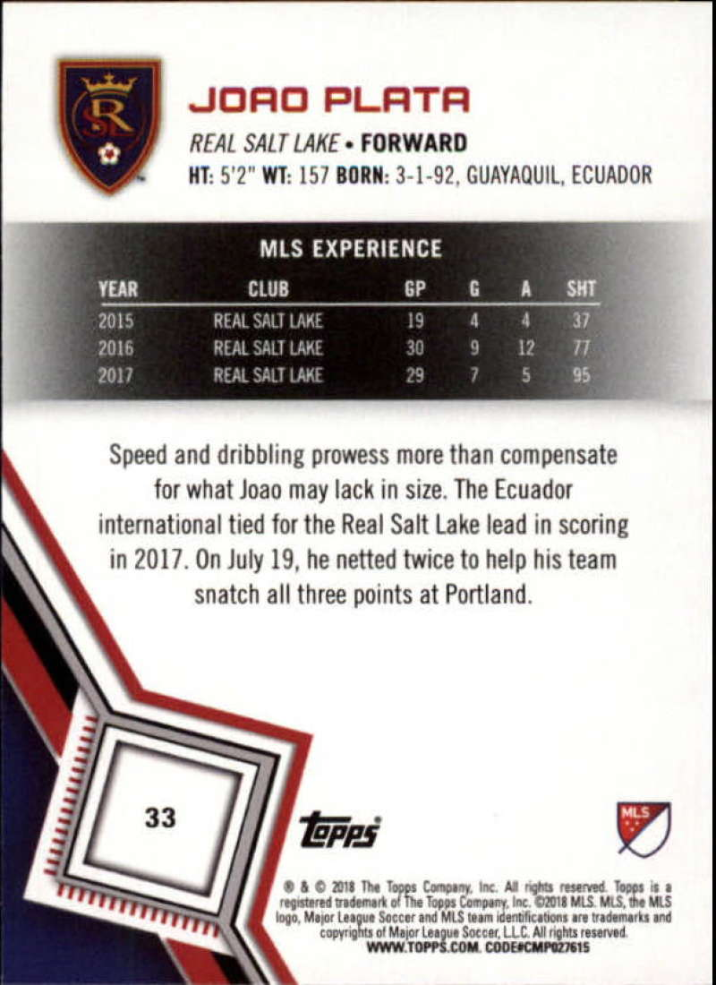 2018-Topps-MLS-Soccer-Base-Set-Cards-Choose-From-Card-039-s-1-200 thumbnail 67